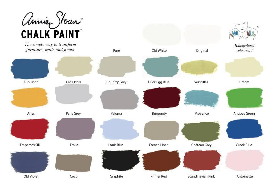 Annie Sloan Chalk Paint Color Card Chart Royal Design Studio Stencils And Painting