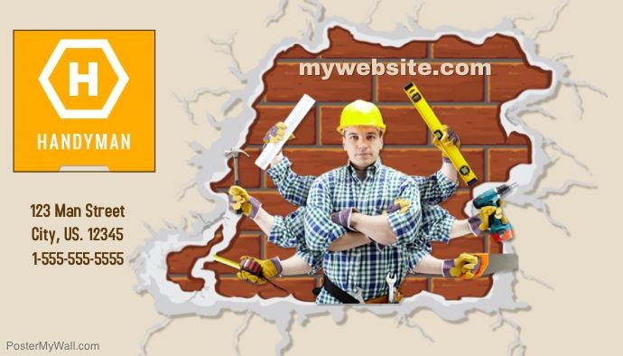 Customize this handyman business card template with your photos and customize this handyman business card template with your photos and text easy to use tools free downloads available or purchase high quality prints from cheaphphosting Choice Image