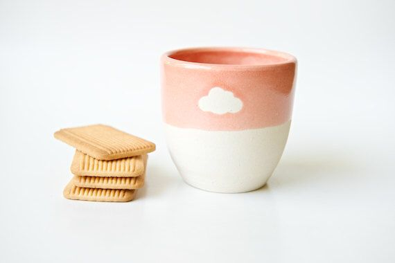 Espresso Cup Cloud Cup Coffee Cup Unique Coffee Mug Modern Pottery Colorful Ceramics Yellow Cup Coral Mug Mint Ceramics Gifts for Her Mom by RossLab on Etsy https://www.etsy.com/listing/199122278/espresso-cup-cloud-cup-coffee-cup-unique