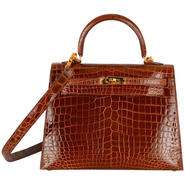 4da1b8c39d81 HERMES KELLY CROCODILE BAG 25CM MIEL HONEY GOLD HARDWARE STUNNIN found on  Polyvore