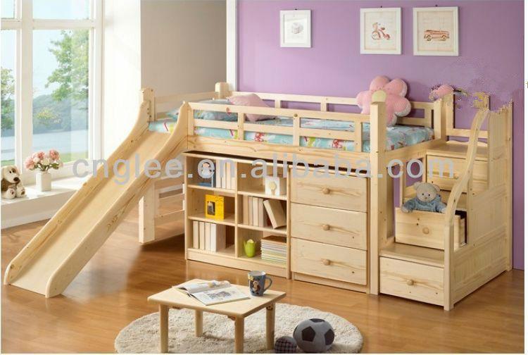 Best Children Wooden Bed With Slide Buy Children Bed Design 400 x 300