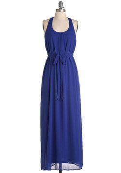 Optimistic Effect Sleeveless Dress #cobaltdress