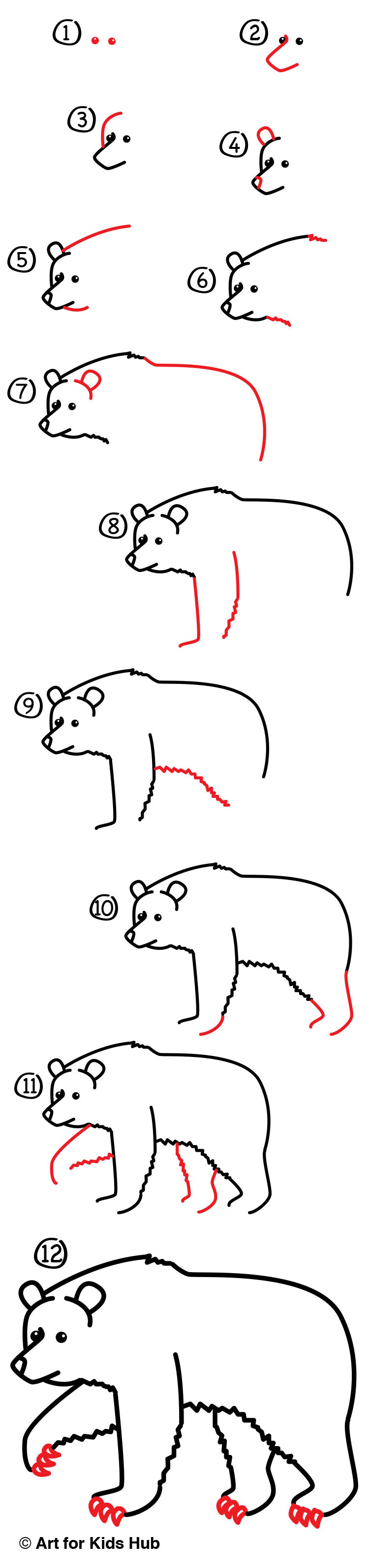 How to draw a grizzly bear realistic art for kids hub grab something to draw with and follow along today were learning how to draw a grizzly bear thecheapjerseys Images