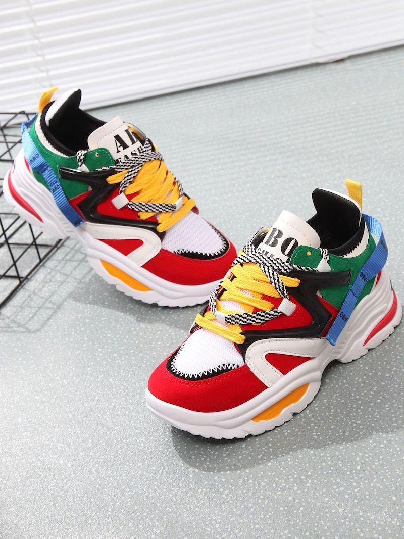 wholesale dealer ae23b fcf6e Lace Up Mesh Panel SneakersFor Women-romwe
