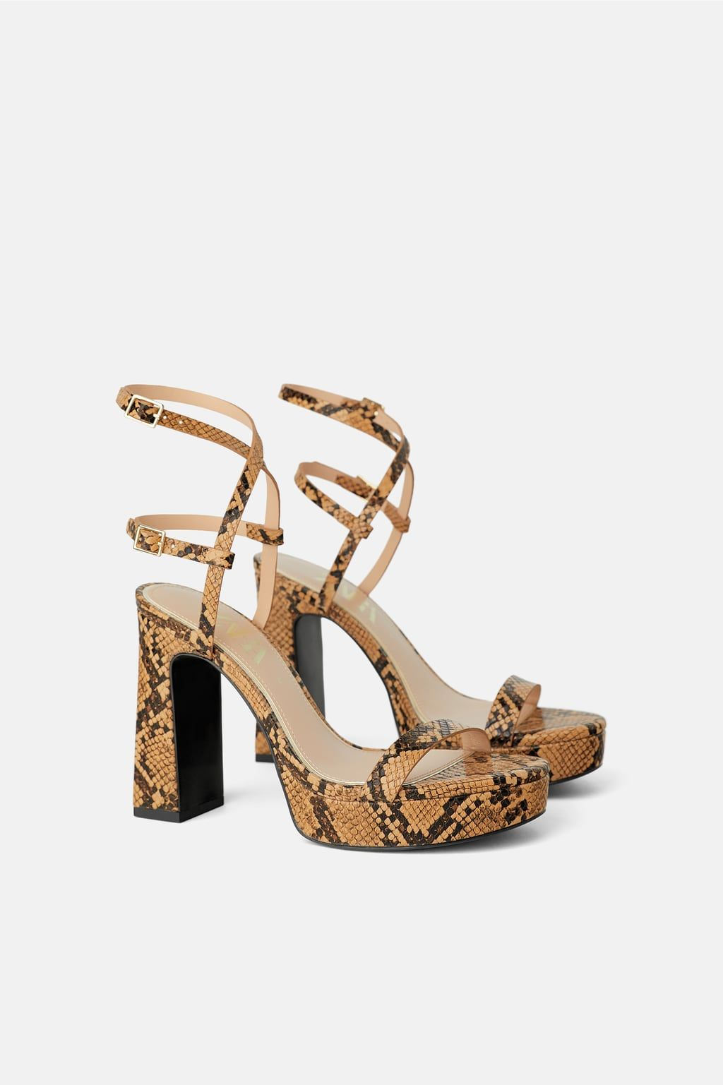 6d8dfdcf6e ANIMAL PRINT HIGH HEELED PLATFORM SANDALS - View all-WOMAN-SHOES | ZARA  United States