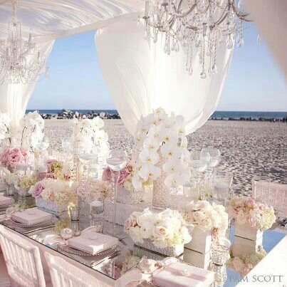 Karen Tran Florals Elegant Beach Wedding Con Imagenes Boda