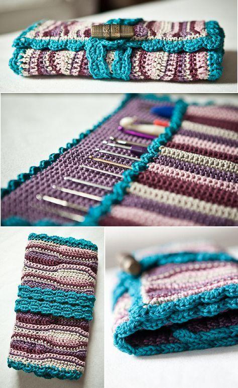Tasche für Häkelnadeln | häkeln | Pinterest | Rucksäcke und Häkeln