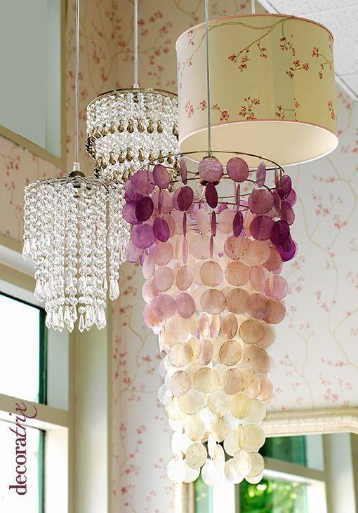 Lamparas techo aranas cristal lamps capiz chandelier - Lamparas de techo dormitorio ...