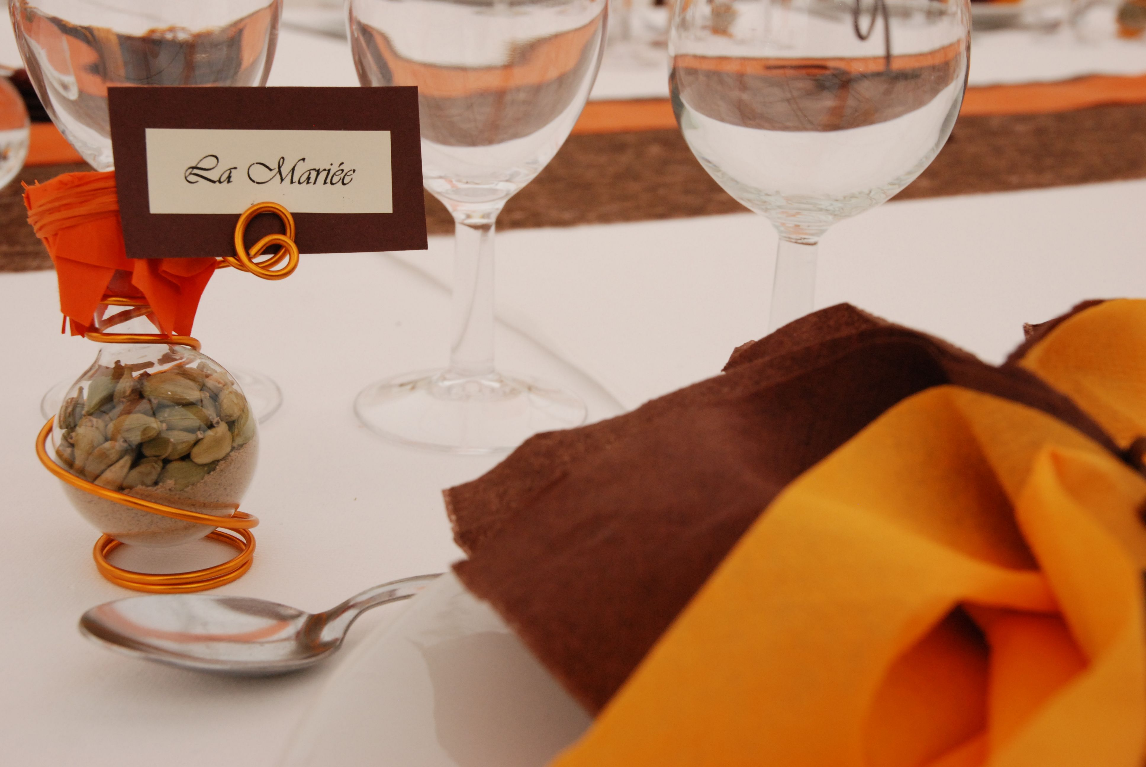 decoration table mariage theme epices