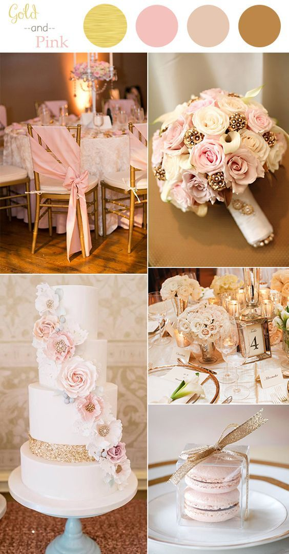 Wedding colors 2016 perfect 10 color combination ideas to love vintage pink and gold wedding color ideas for 2016 junglespirit Images