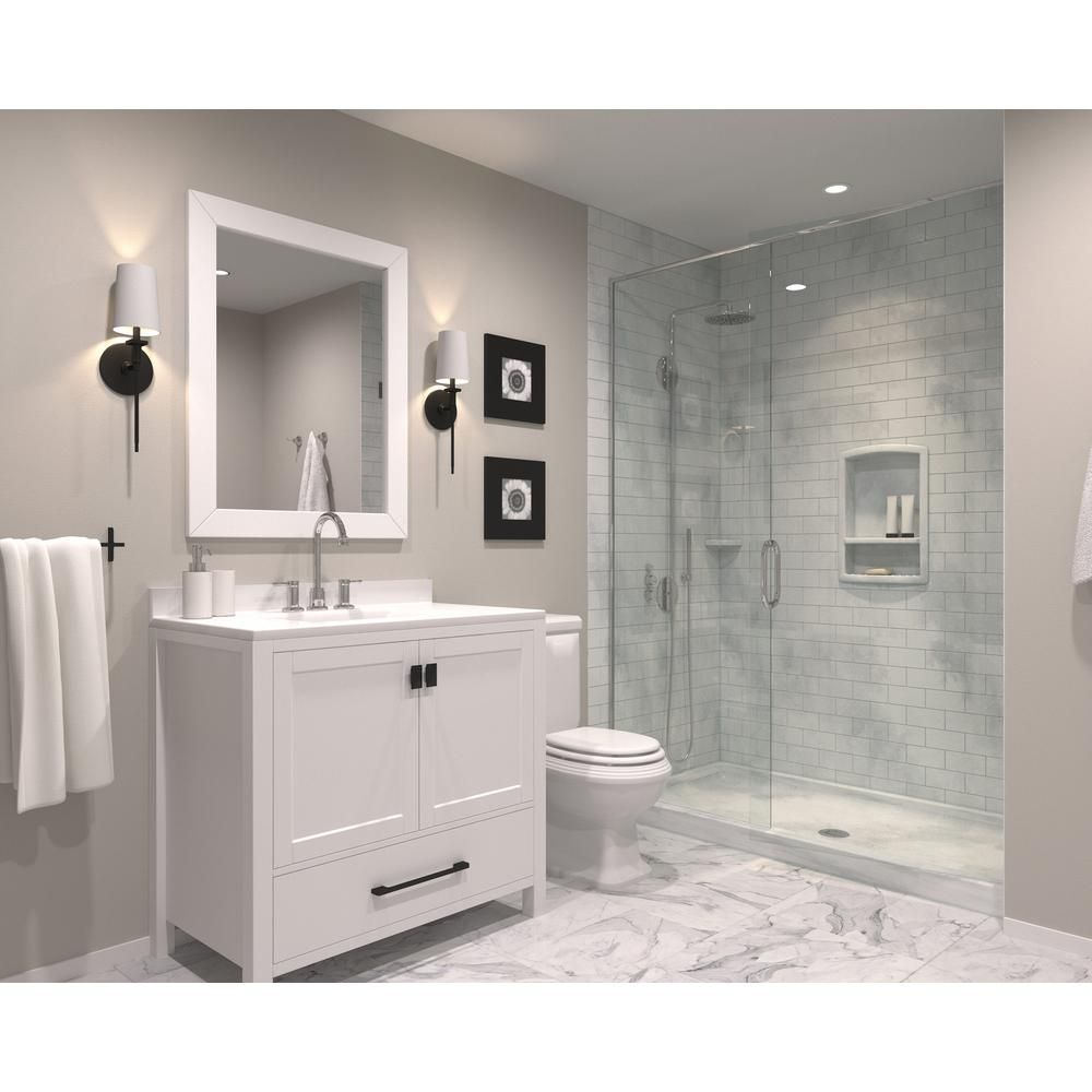 swan subway tile 36 in x 62 in x 96 in 3piece easy up