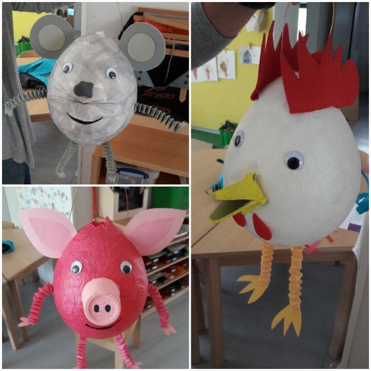 Maus, Hahn,Huhn, Schwein Laterne #laternebastelnkinder