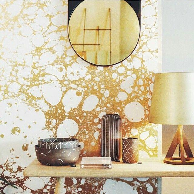 Modern Interior Design Magazine: Looking Good Over Hawkinsnewyork With This Gold Splattered