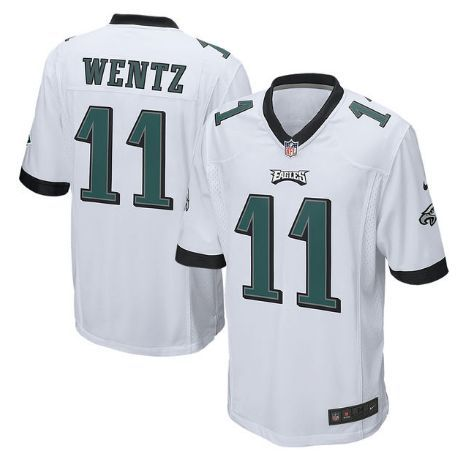 Men s Philadelphia Eagles  11 Carson Wentz White Nike NFL Vapor Untouchable  Limited Jersey 06a26df4d