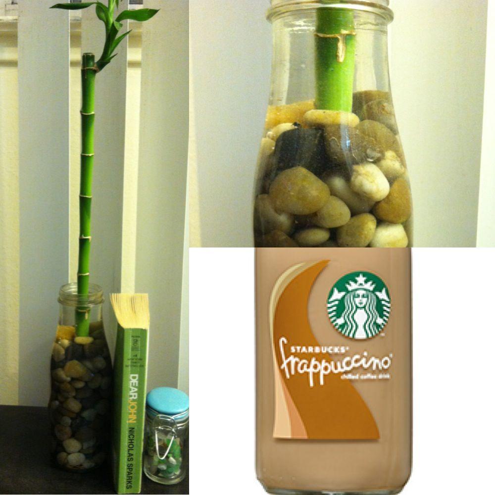 Starbucks glass bottle recycled crafts diy pinterest