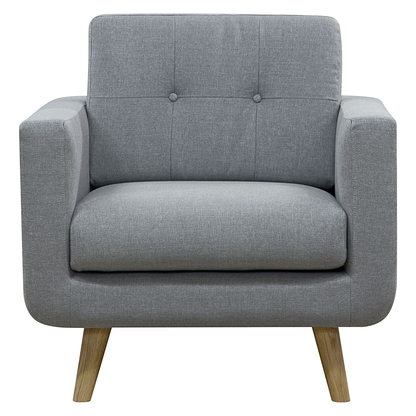 Light grey armchair - Larsen Light Grey Armchair By Zanui Zanui