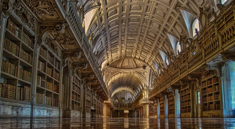 Library National Palace of Mafra, Mafra, Portugal by Adriano Neves on 500px