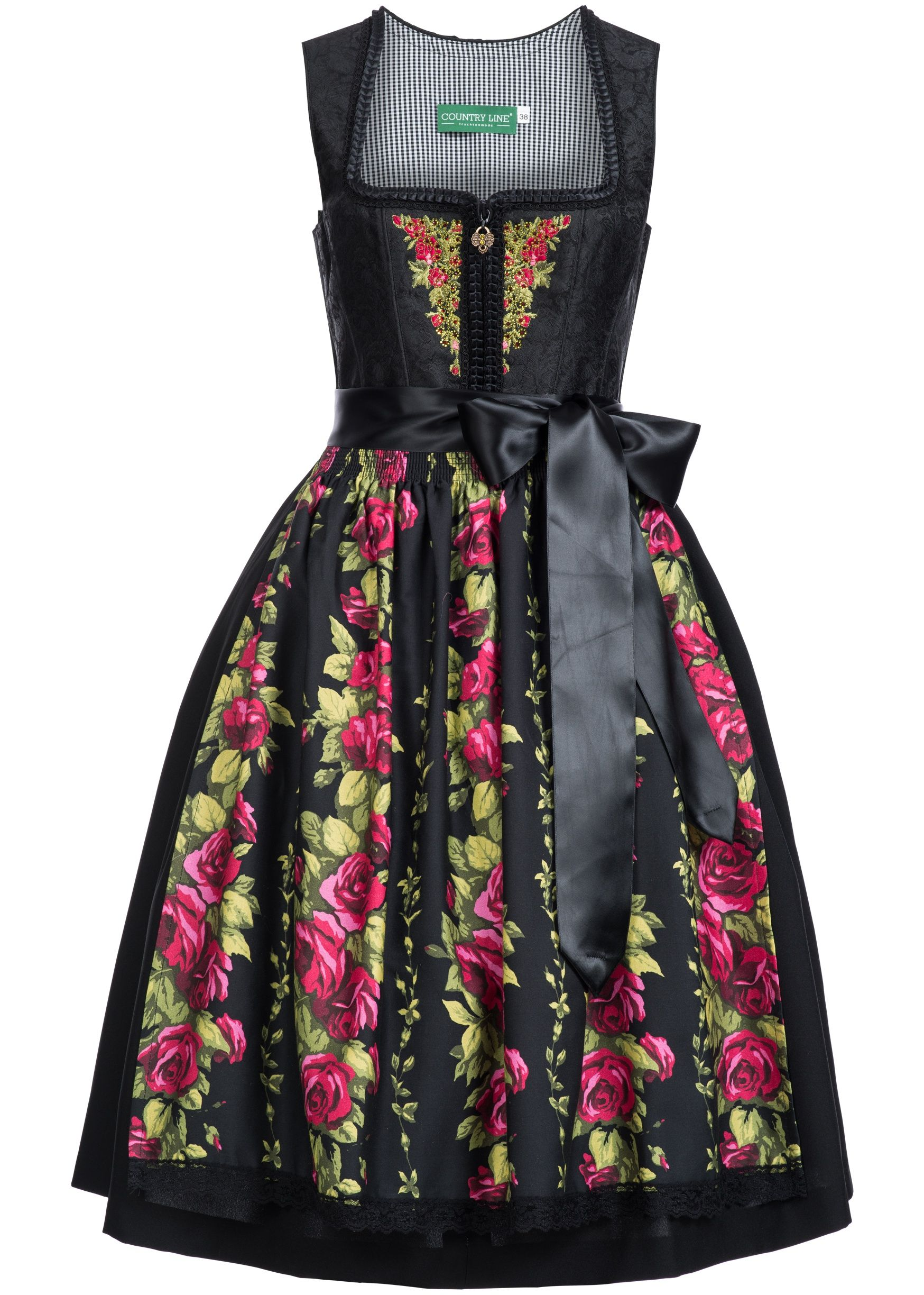 Country Line Dirndl ROSALINDE schwarz - Country Line ...