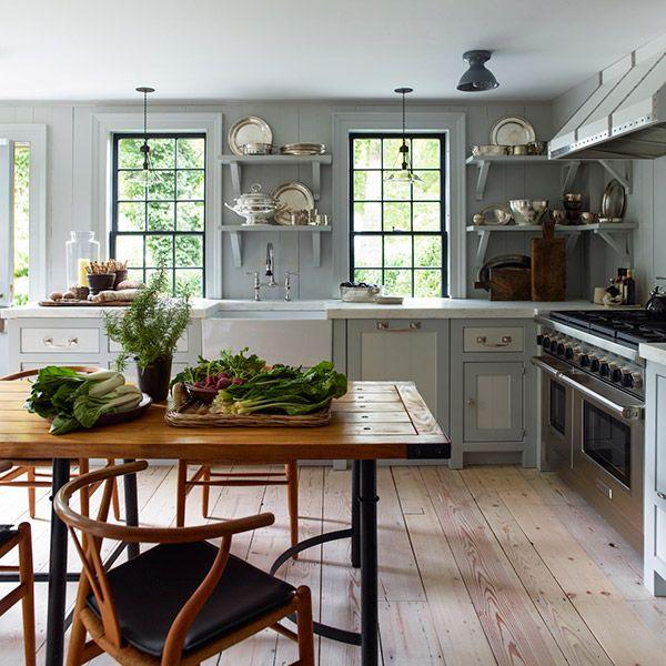 Designer Steven Gambrel S 8 Favorite Kitchen Designs: Wall And Cabinet Color, Wide Plank Natural Wood Floors