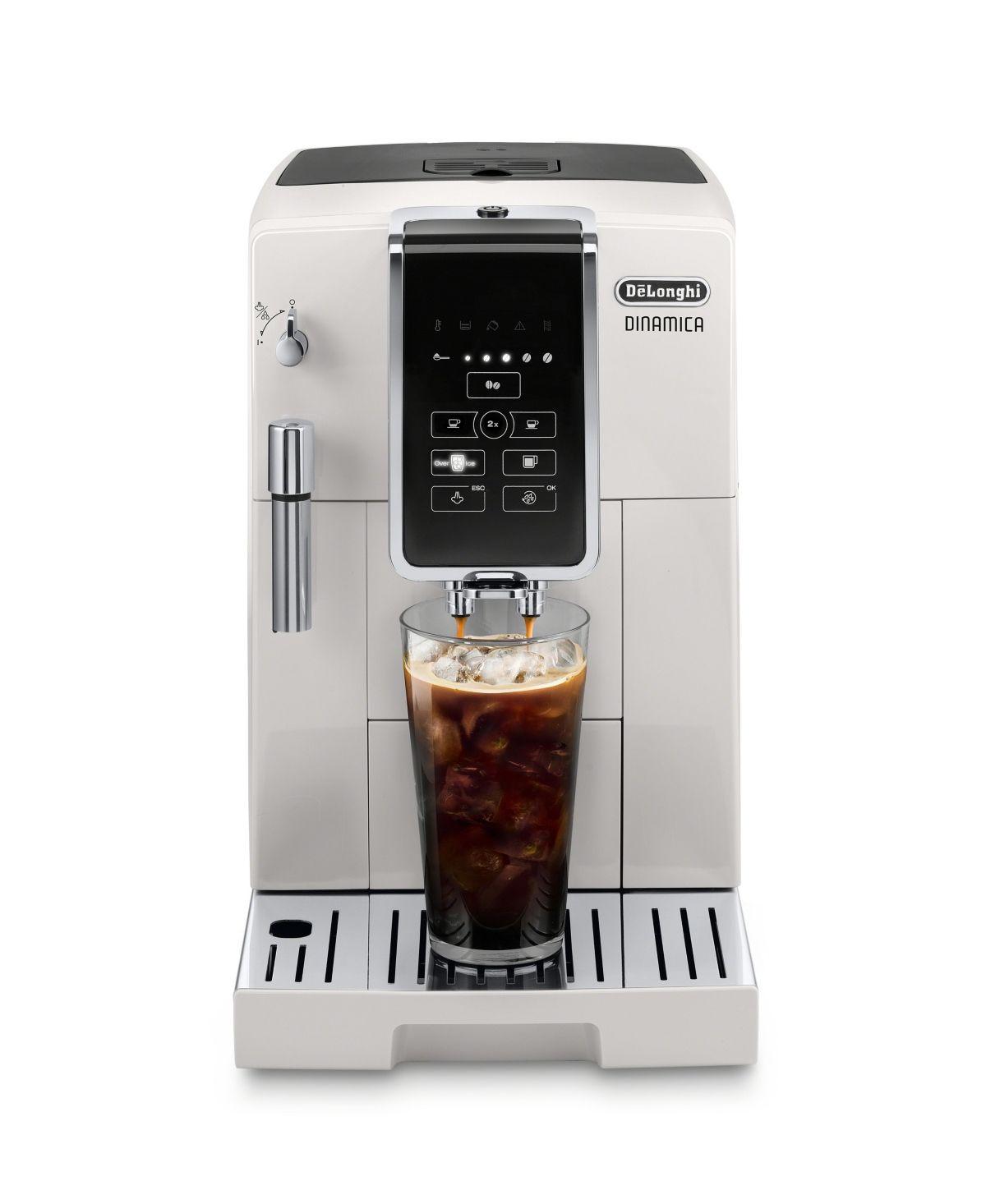 De'Longhi Dinamica Automatic Coffee & Espresso Machine with Iced Coffee, TrueBrew Over Ice Black - White #espressoathome