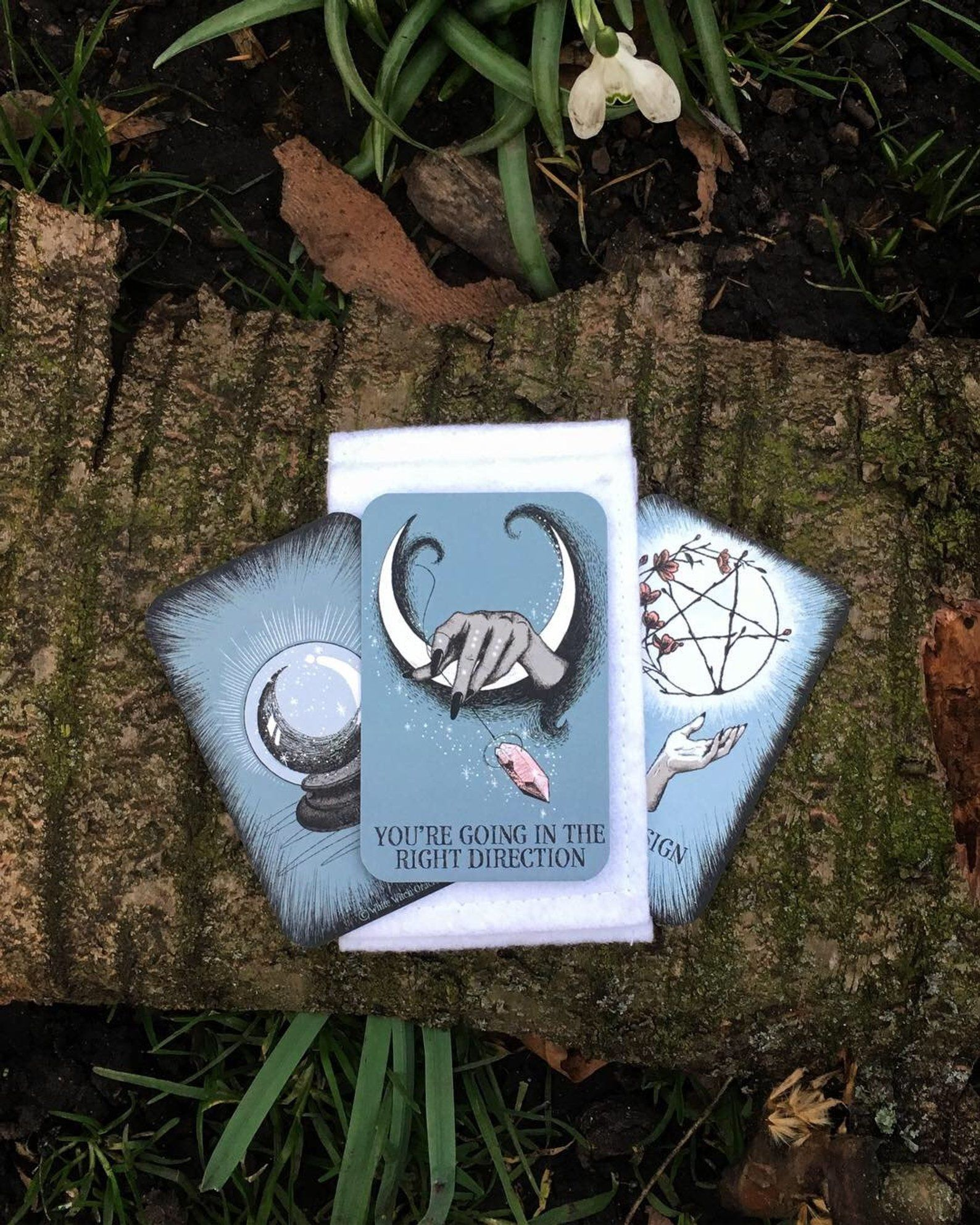 Crystal ball pocket oracle cards, oracle deck, mini oracle cards