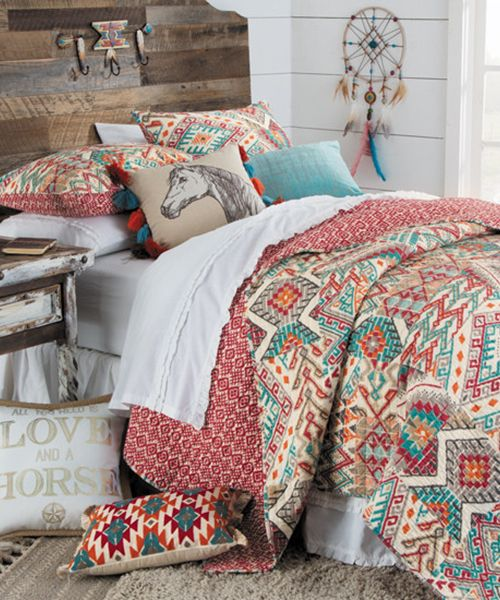 Cowgirl Quilt Bedding - Girls Western Collections in 2020 ...