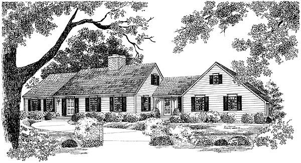 Ranch House Plan 95118 Elevation