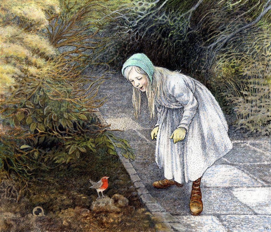From THE SECRET GARDEN By Frances Hodgson Burnett Full Color Illustrations Inga Moore