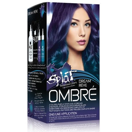Splat Ombr Dream Colour Bleach Kit Blue Splat Ombre Hair