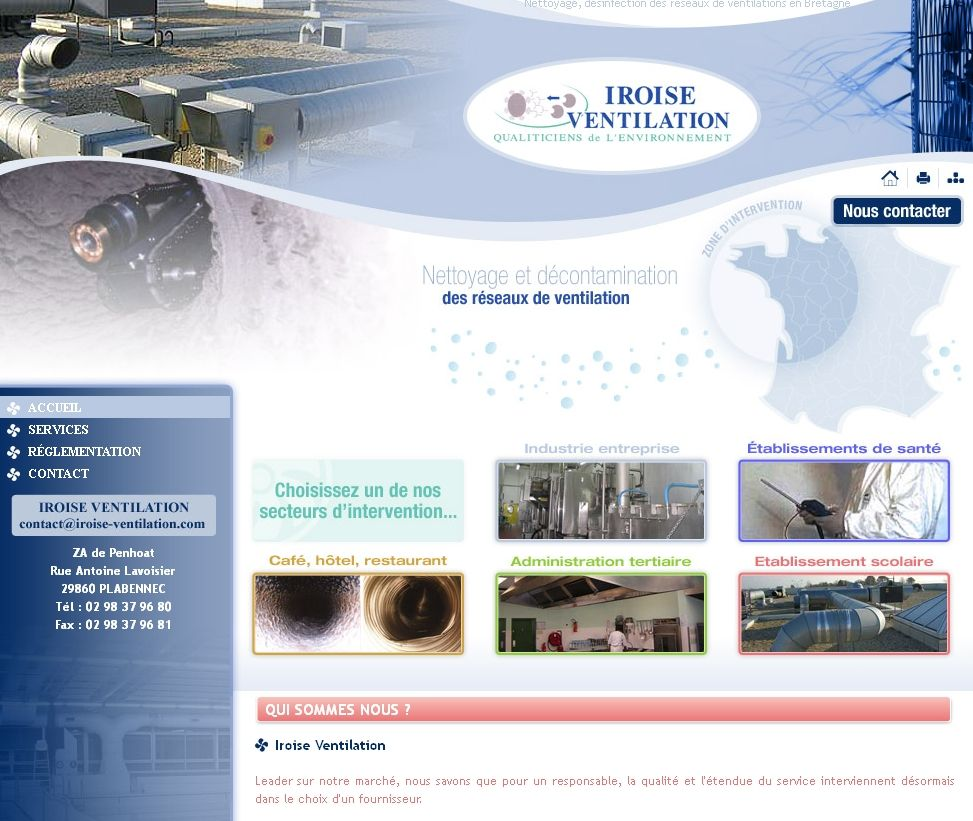 Iroise Ventilation : nettoyage, désinfection des réseaux de ventilations en Bretagne