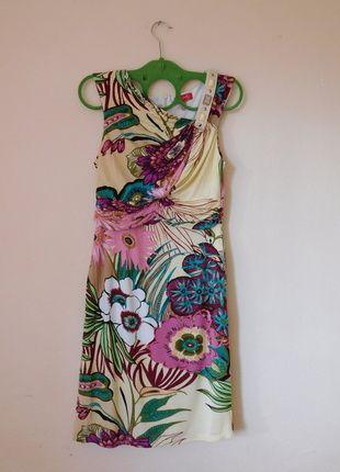 Derhy Sukienka Floral W Kwiaty 36 Skirt Set Two Piece Skirt Set Summer Dresses