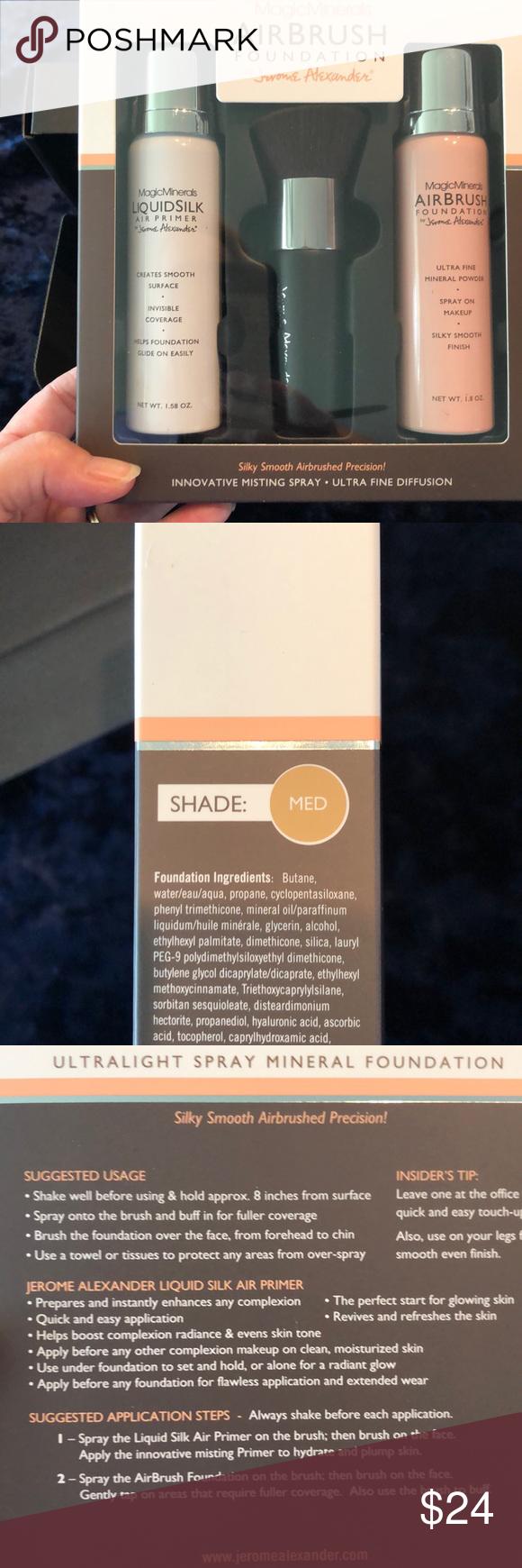 Magic Minerals Air Brush Foundation Set NIB NWT Airbrush