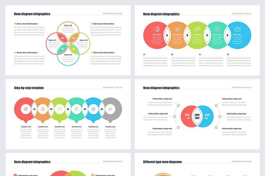 Venn Diagrams Pack For Powerpoint Keynote Template Venn Diagram Keynote Design