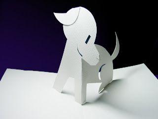 Simple Pop Up Card Dog Diy Pop Up Cards Paper Crafts Papercraft Templates
