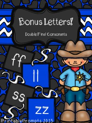 Double Final Consonant from PrintablePrompts on TeachersNotebook - bonus letter template