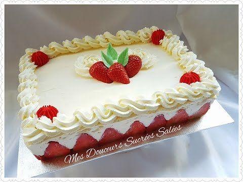 recette fraisier facile, montage et décoration en chocolat , YouTube