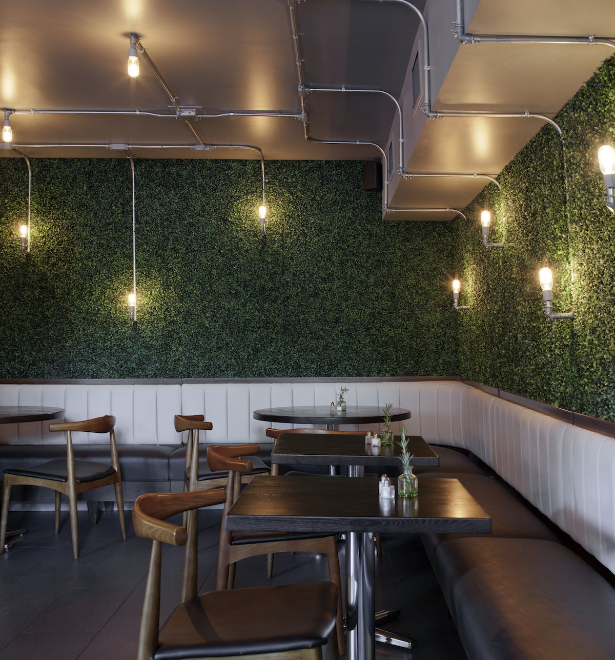Cafe Banquette Seating: Restaurant Restoration Banquette Seating- Sam Carroll