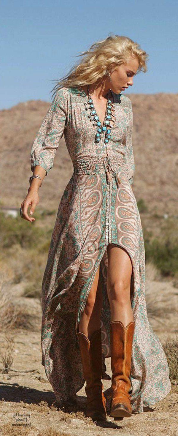 qualité parfaite chaussure belle et charmante Comment adopter le style boheme chic? | robe paysanne | Robe ...