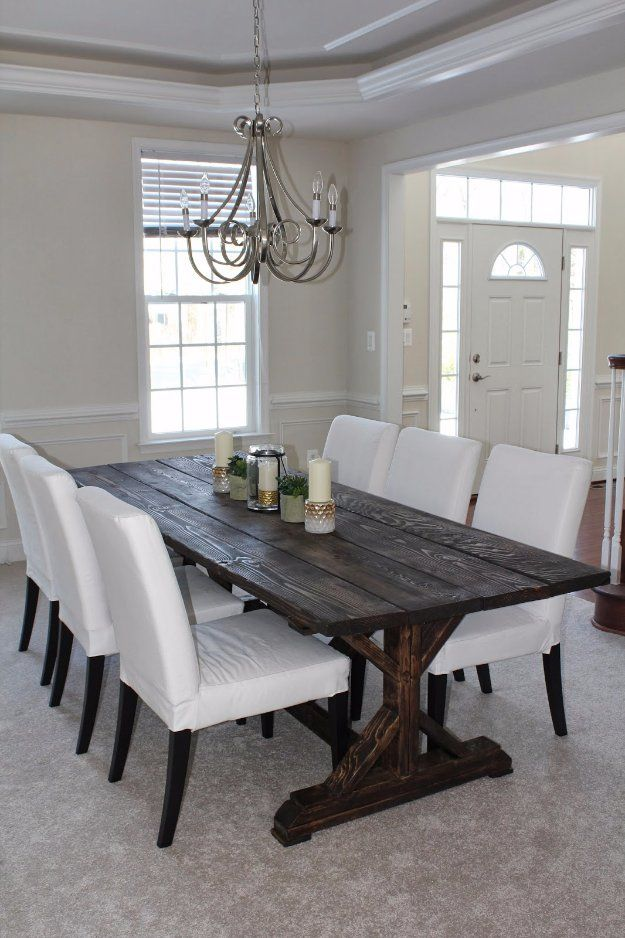 Beautiful Could Be A Simple DIY Farm House Table Project For The Future. Love The  White Chairs For A Clean Touch.