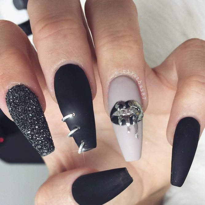Matte Acrylic Nails: 21 Best Inspirational Ideas | Acrylics, Beauty ...