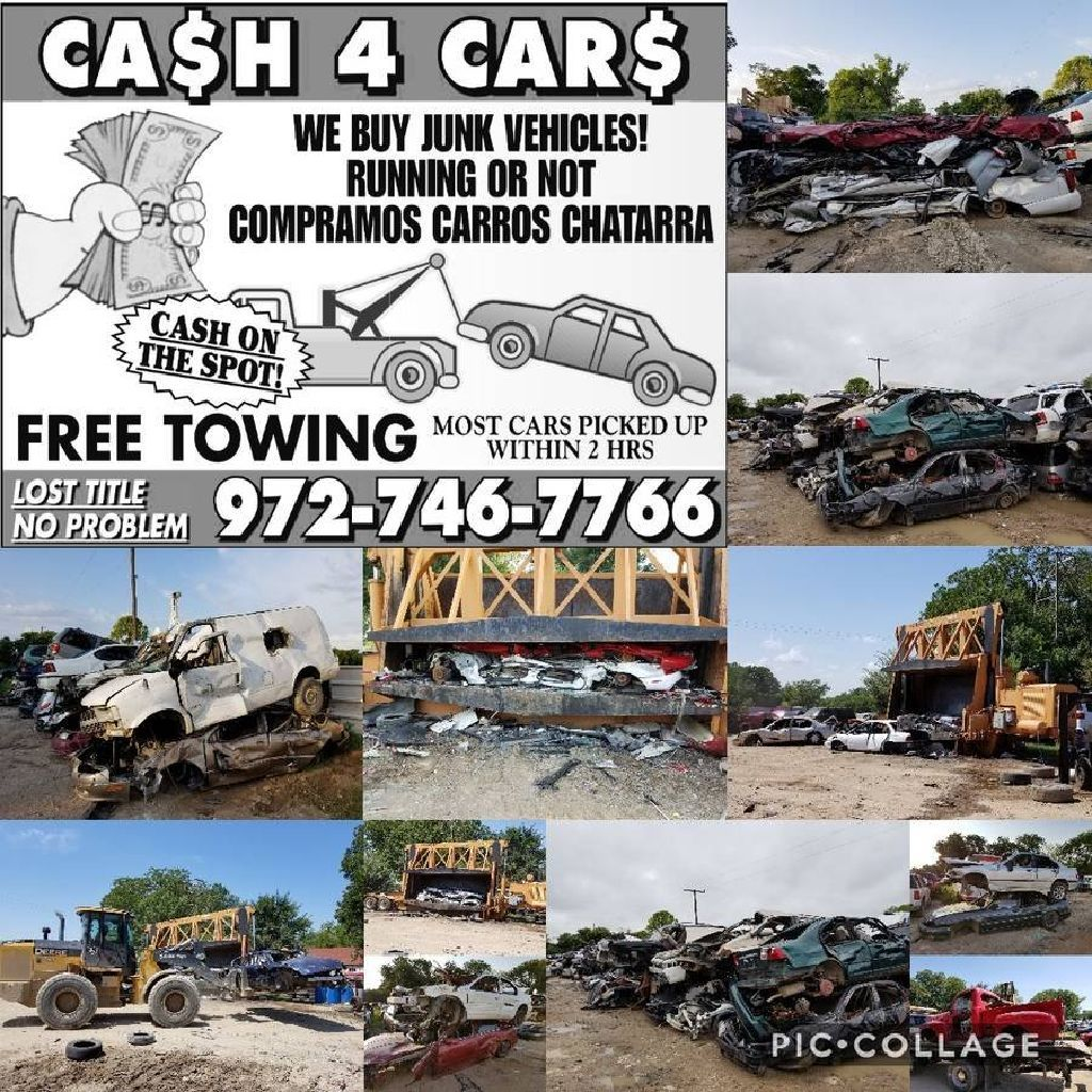 We buy old junk cars running or not , compramos carros