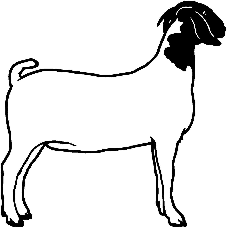 Goat Die-Cut Decal Car Window Wall Bumper Phone Laptop | Goats ...