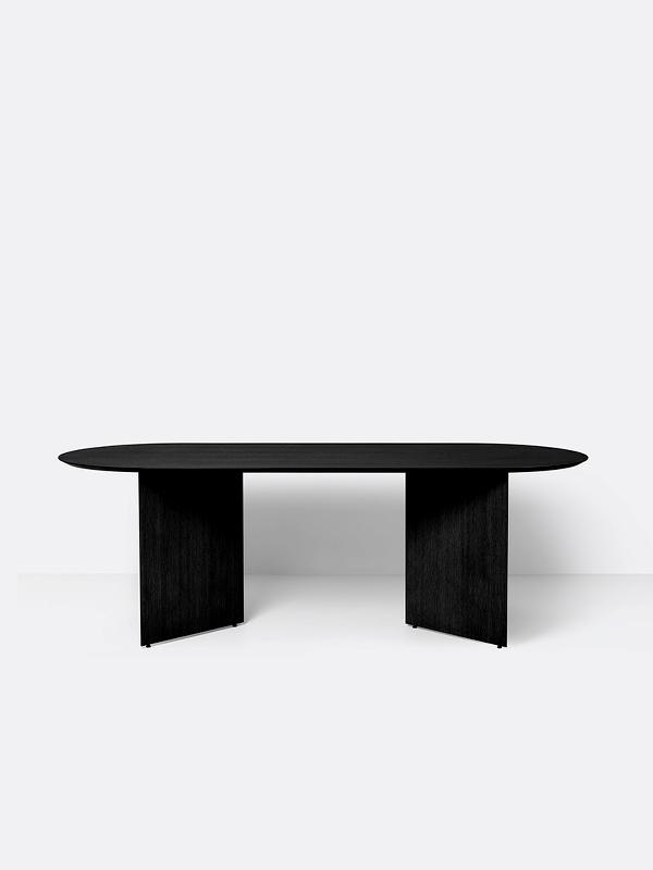 Mingle Wood Table Legs in Black Veneer
