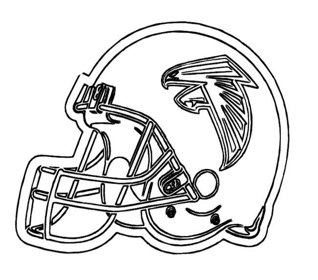 NFL Football Helmet For Games Coloring Page For Kids | NFL coloring ...