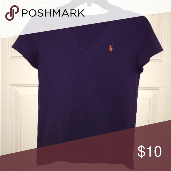 Polo shirt sleeve shirt Worn but still in great condition. Polo by Ralph Lauren Tops Tees - Short Sleeve