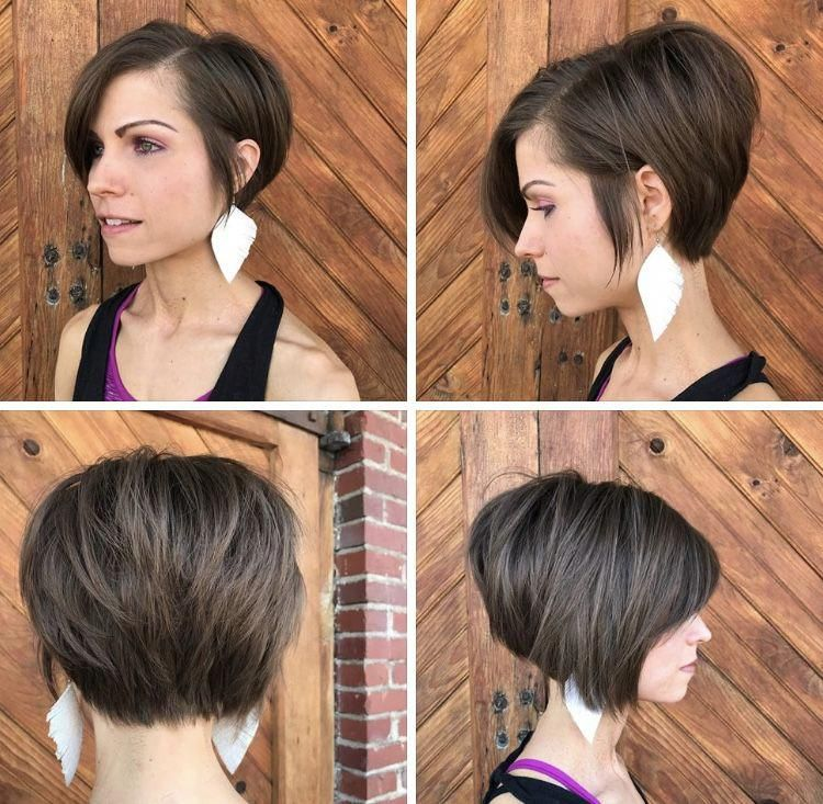 Asymmetrical Bob Razored Texture Emily Yvonne Shortbobpixie Pixie Bob Haircut Asymmetrical Bob Haircuts Bob Hairstyles For Fine Hair