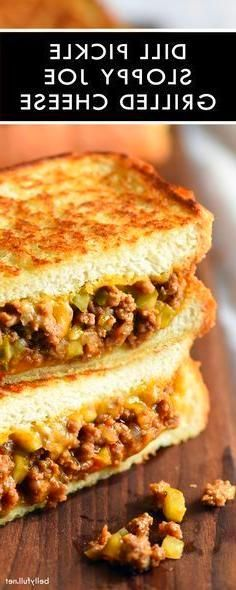 Dill Pickle Soup #dillpicklesoup Grilled Cheese Sandwich Recipes Dill Pickle Sloppy Joe Grilled Cheese is the best of both sandwich worlds when sloppy joes and grilled cheese meet. Taken to level 11 with dill pickles! #dillpicklesoup