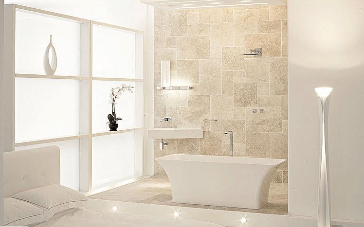 Beige And White Bathroom Decorating Ideas Modern White Bathroom
