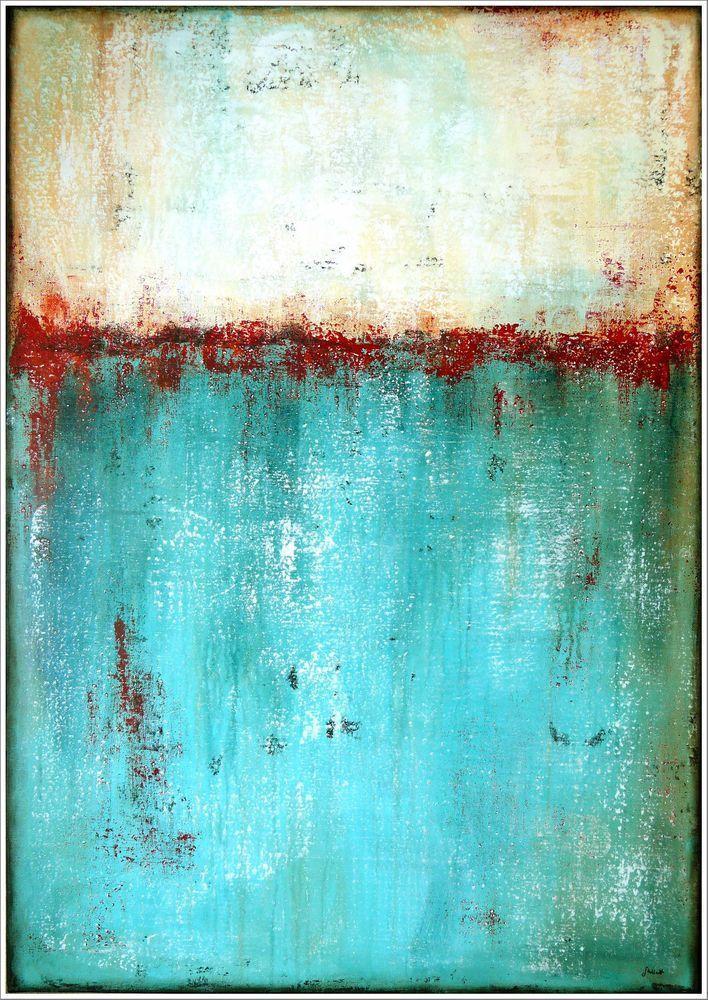 Original Abstrakt Gemalde Handgemalt Acrylmalerei Kunst Modern