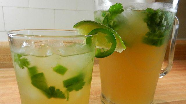 Jalapeno Cilantro Beer Margaritas